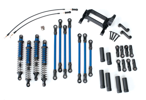 Traxxas Long Arm Lift Kit, TRX-4, complete (includes blue powder coated links, blue-anodized shocks)