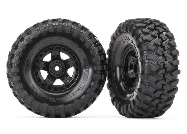 Traxxas Tires and wheels, assembled, glued (TRX-4 Sport wheels, Canyon Trail 1.9