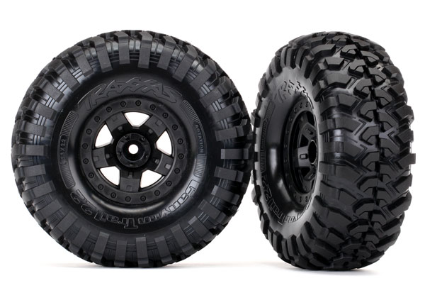 Traxxas Tires and wheels, assembled, glued (TRX-4 Sport wheels, Canyon Trail 2.2