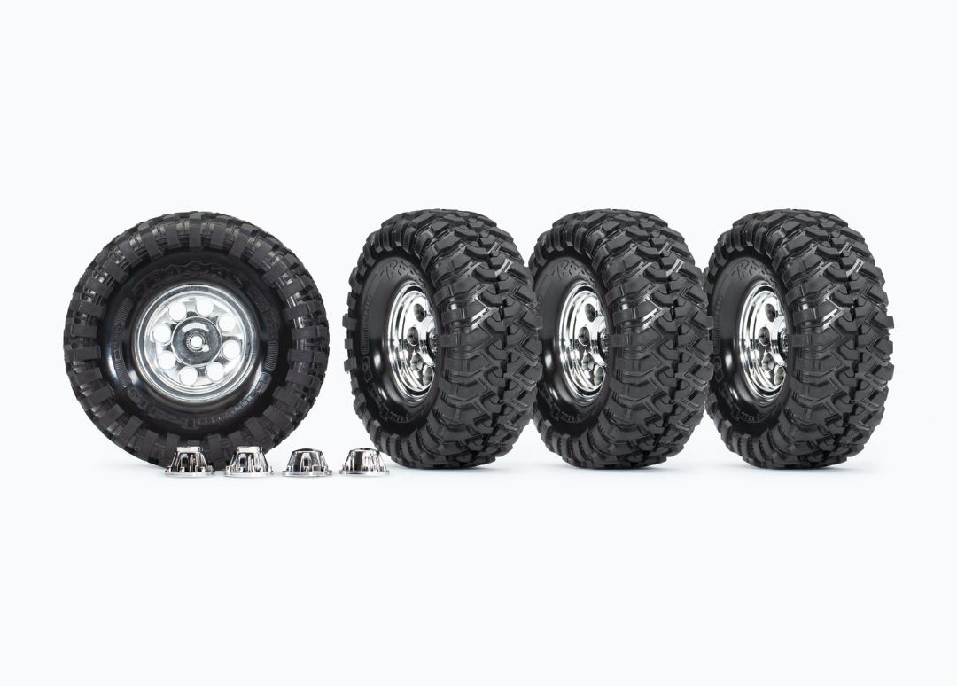 Traxxas Tires and wheels, assembled, glued (1.9