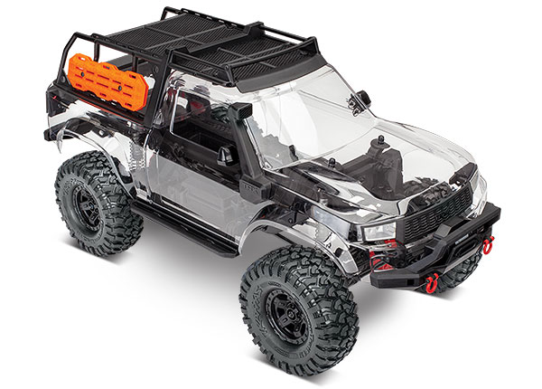 Traxxas TRX-4 Sport Unassembled Kit with Clear Body, Expedition Rack and Accessories. *No Electronics*