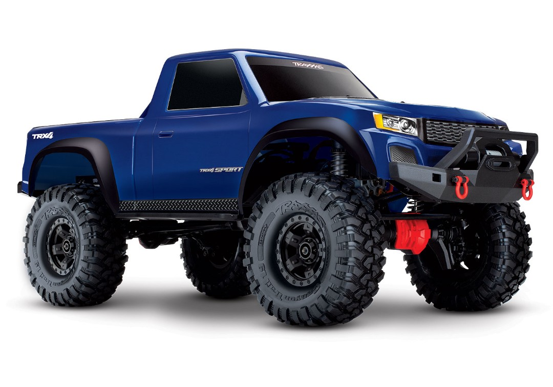 Traxxas TRX-4 Sport 1/10 Scale 4X4 Trail Truck - Blue, Fully-Assembled, Waterproof Electronics, Ready-To-Drive, with TQ 2.4GHz 2-Channel Radio System, XL-5 HV Speed Control, and Painted Body (Requires