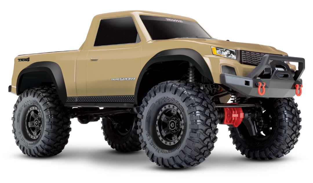 Traxxas TRX-4 Sport 1/10 Scale 4X4 Trail Truck - Tan, Fully-Assembled, Waterproof Electronics, Ready-To-Drive, with TQ 2.4GHz 2-Channel Radio System, XL-5 HV Speed Control, and Painted Body (Requires