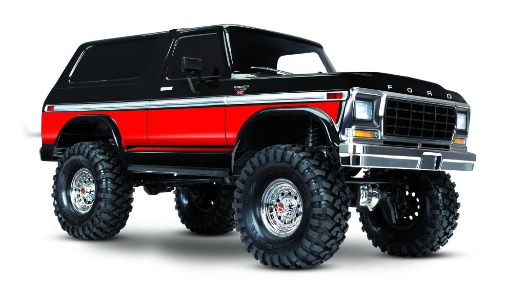 Traxxas TRX4 79 Ford Bronco 1/10 Crawler, XL-5 HV, Titan 12T Red