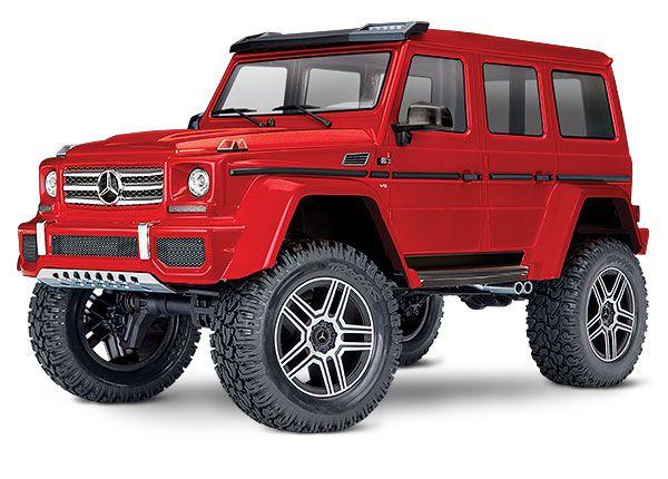 Traxxas TRX4 Mercedes G 500 4X4 1/10 Crawler, XL-5 HV, Titan 12T Red (North American Only)