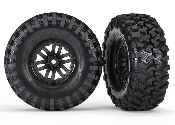Traxxas Tires and wheels, assembled, glued (TRX-4 wheels, Canyon Trail 1.9