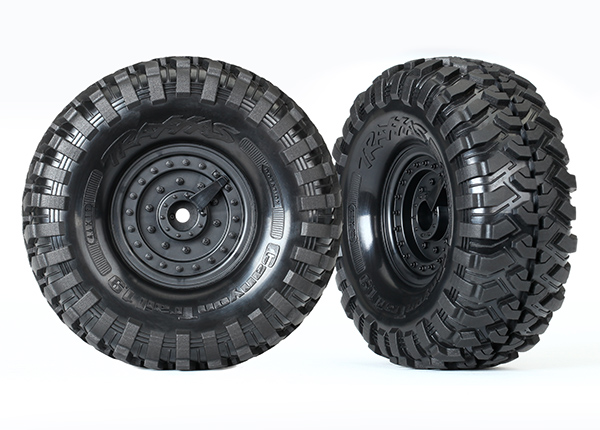 Traxxas Tires and wheels, assembled, glued (Tactical wheels, Canyon Trail 1.9