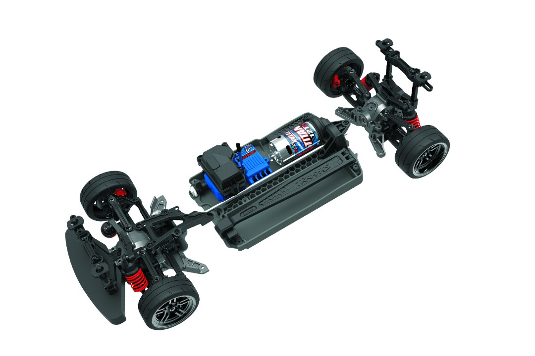 Traxxas 4-TEC 2.0 XL-5 AWD Chassis-Only - Click Image to Close