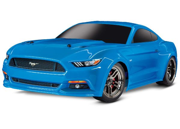 Traxxas Ford Mustang GT: 1/10 Scale AWD Supercar with TQ 2.4GHz radio system - Grabber Blue