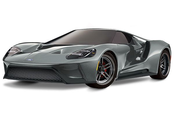 Traxxas Ford GT: 1/10 Scale AWD Supercar with TQi Traxxas Link Enabled 2.4GHz Radio System & Traxxas Stability Management (TSM) - Silver