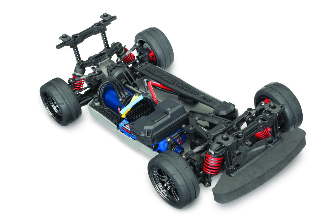 Traxxas 4-Tec 2.0 VXL AWD Chassis-Only: 1/10 Scale AWD On-Road, Fully-Assembled, Waterproof, TQi 2.4GHz Radio System, Traxxas Stability Management, VXL-3s Electronic Speed Control. Requires: 200mm Body, Battery and Charger