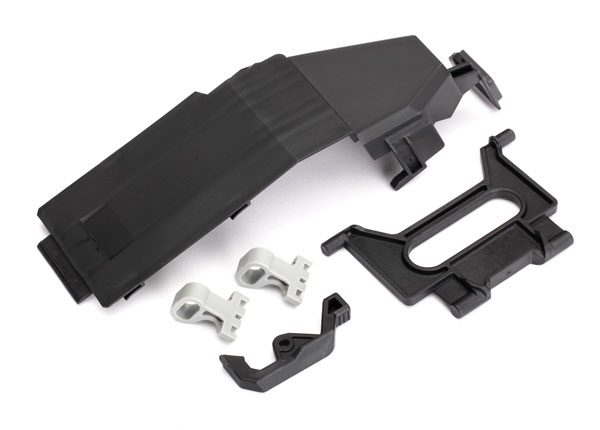 Traxxas Battery door/ battery strap/ retainers (2)/ latch