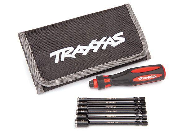 Traxxas Speed Bit Master Set, nut driver, 6-piece, includes premium handle (medium),travel pouch, and nut drivers (4.0mm, 4.5mm, 5.0mm, 5.5mm, 7.0mm, 8.0mm),1/4