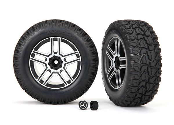 Traxxas Tires and wheels, assembled, glued (2.6