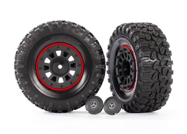 Traxxas Tires and wheels, assembled, glued (2.2