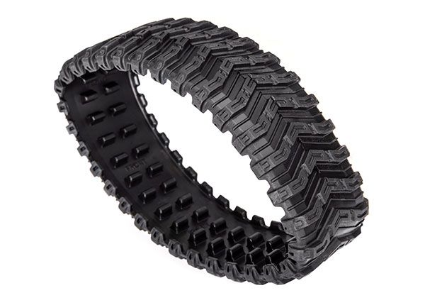 Traxxas Rubber track, All-Terrain, front (left or right) (rubber) (1)