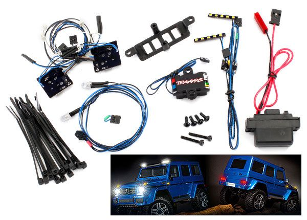 Traxxas Mercedes LED light set, complete with power supply (contains headlights, tail lights, roof lights, & distribution block) (fits TRA8811 or TRA8825 body)