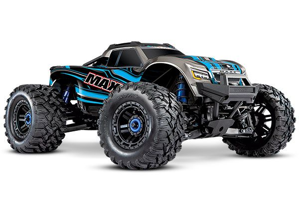 Traxxas Maxx with 4S ESC - Blue 1/10 Scale 4WD Brushless Electri