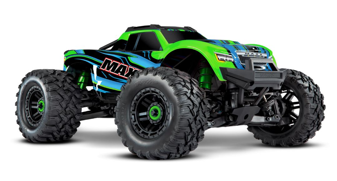 Traxxas Maxx with 4S ESC - Green 1/10 Scale 4WD Brushless Elect