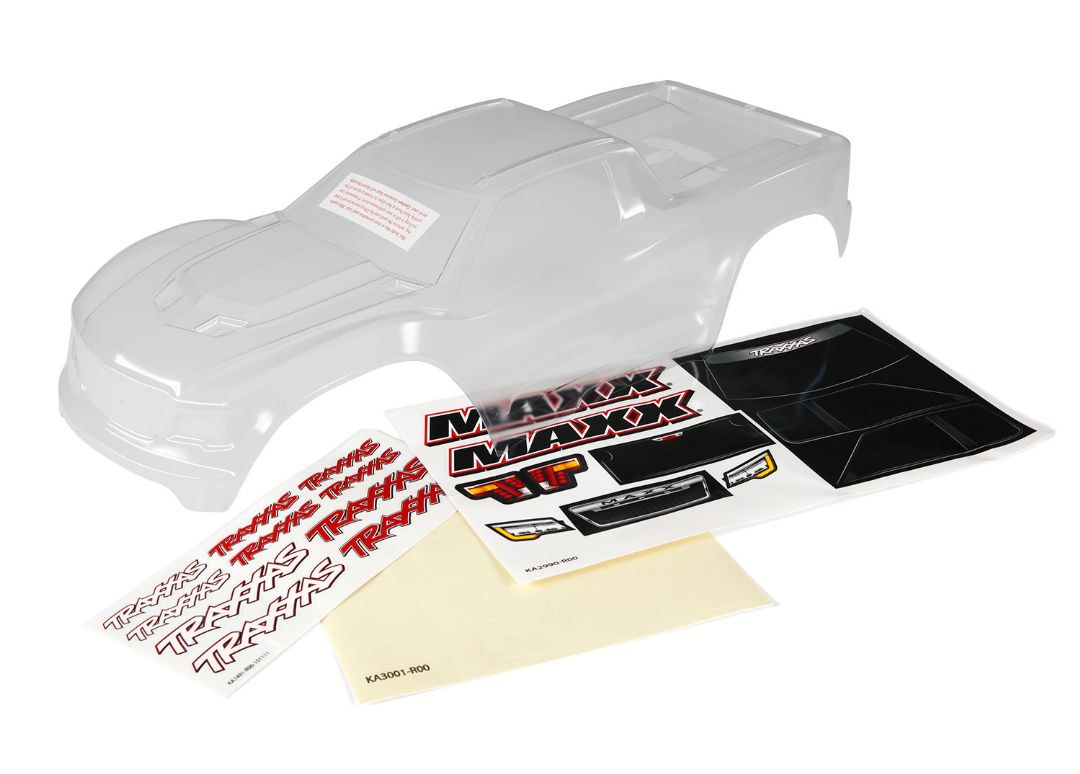 Traxxas Body, Maxx, heavy duty (clear, untrimmed, requires paint
