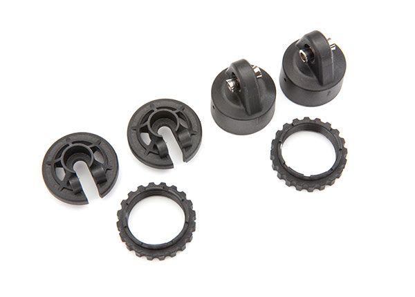Traxxas Shock caps, GT-Maxx shocks/ spring perch/ adjusters/ 2.5x14 CS (2) (for 2 shocks)