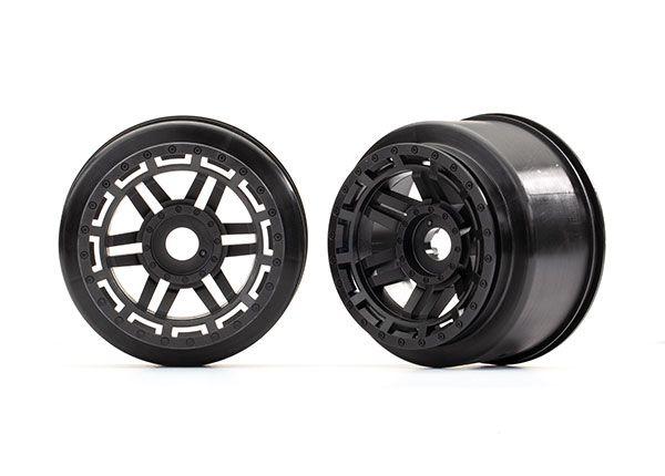 Traxxas Wheels (black) (2)