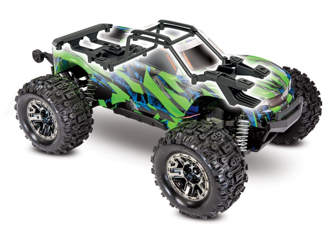 Traxxas Hoss 4X4 VXL - Green & Blue 1/10 Scale 4WD Brushless