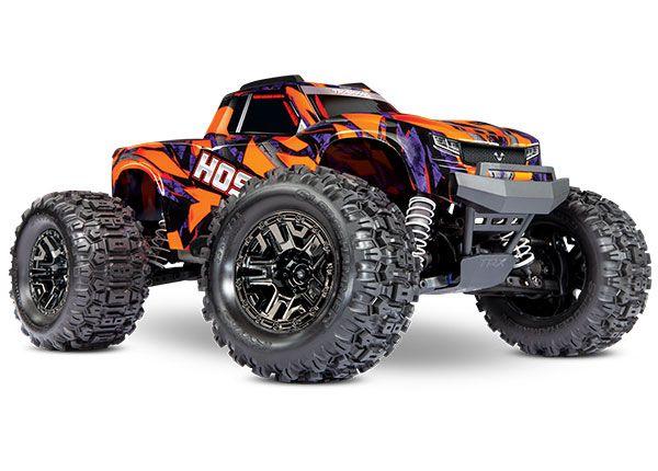 Traxxas Hoss 4X4 VXL - Orange & Purple 1/10 Scale 4WD Brushless Electric Monster Truck