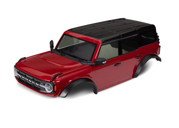 Traxxas Body, Ford Bronco (2021), complete, red (painted)