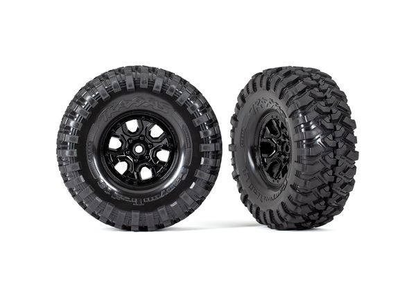 Traxxas Tires and wheels, assembled, glued (TRX-4 2021 Bronco 1.9