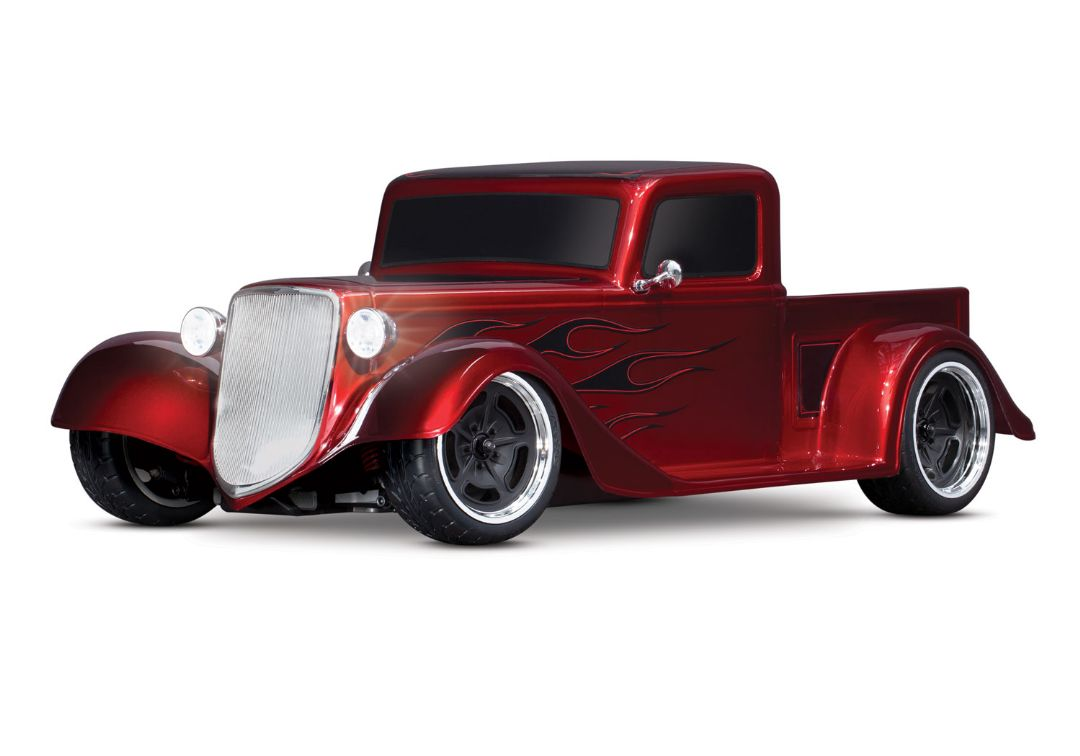 Traxxas Factory Five '35 Hot Rod Truck: 1/10 Scale AWD Electric Truck with TQ 2.4GHz radio system - Metallic Red