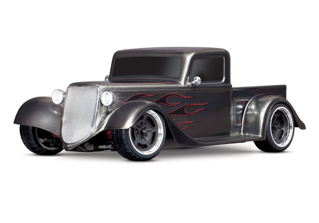 Traxxas Factory Five '35 Hot Rod Truck: 1/10 Scale AWD Electric Truck with TQ 2.4GHz radio system - Metallic Graphite