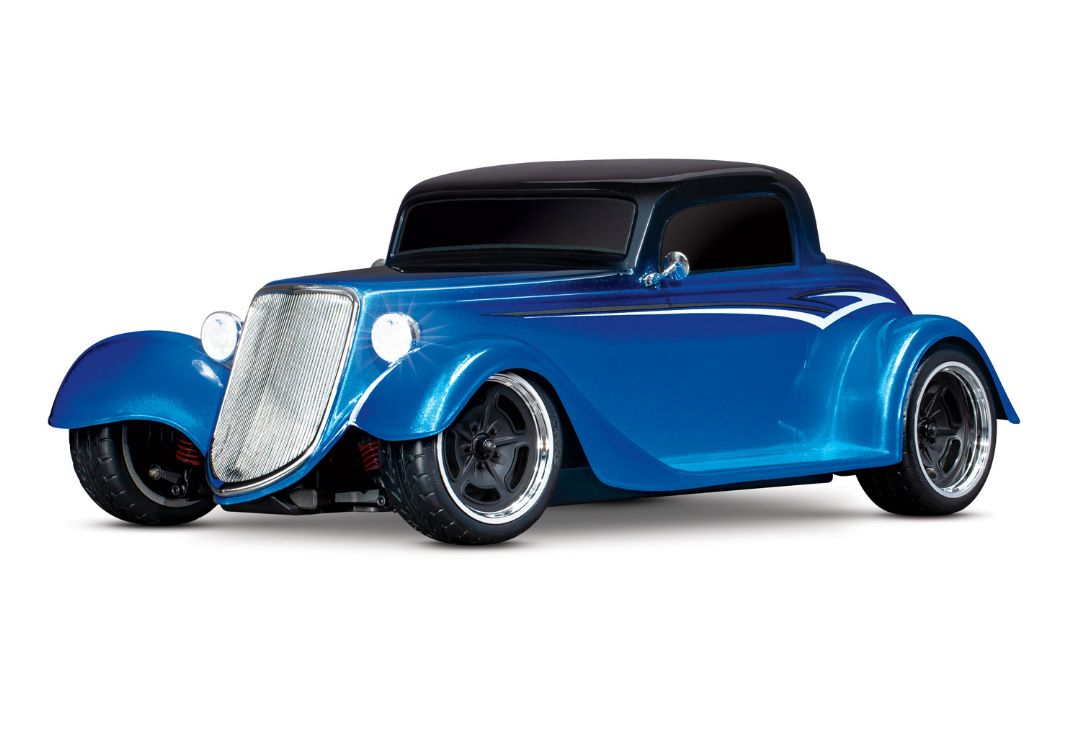 Traxxas Factory Five '33 Hot Rod Coupe: 1/10 Scale AWD Electric Supercar with TQ 2.4GHz radio system - Metallic Blue Fade