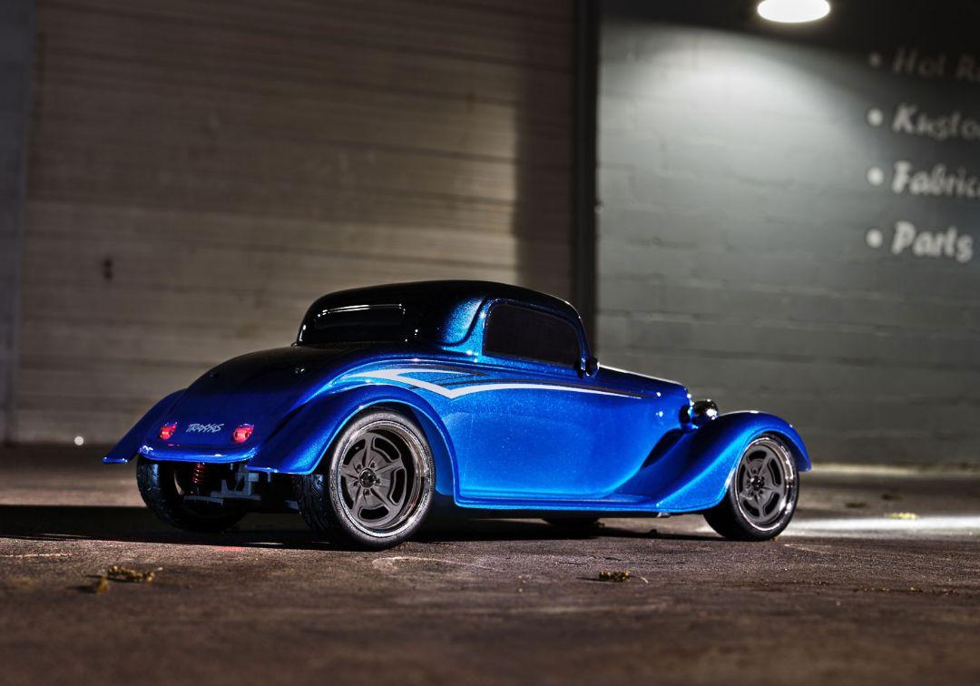 Traxxas Factory Five '33 Hot Rod Coupe 1/10 - Metallic Blue Fade - Click Image to Close
