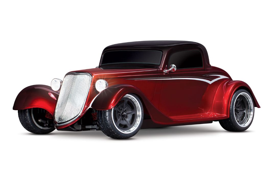 Traxxas Factory Five '33 Hot Rod Coupe: 1/10 Scale AWD Electric Supercar with TQ 2.4GHz radio system - Metallic Red Fade