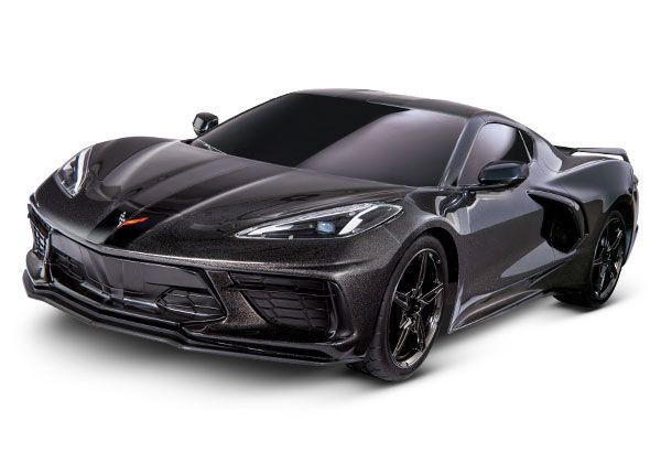 Traxxas Chevrolet Corvette Stingray: 1/10 Scale AWD Supercar with TQ 2.4GHz Radio System - Black