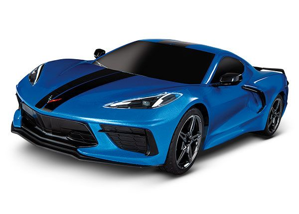 Traxxas Chevrolet Corvette Stingray: 1/10 AWD Supercar - Blue