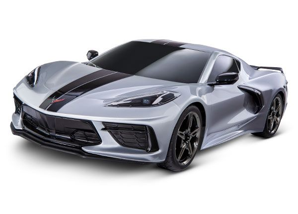 Traxxas Chevrolet Corvette Stingray: 1/10 AWD Supercar - Silver