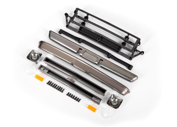 Traxxas Body accessories, Chevrolet C10, satin black chrome (includes grille (upper & lower),headlight housings (left & right),bumpers (front & rear),mounting retainers and hardware)