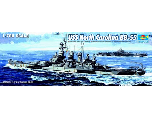 Trumpeter 1/700 USS North Carolina BB-55