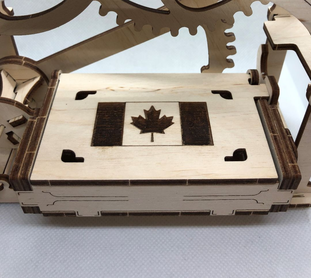 UGears Mechanical Box - Canadian Flag Edition - 61 pieces