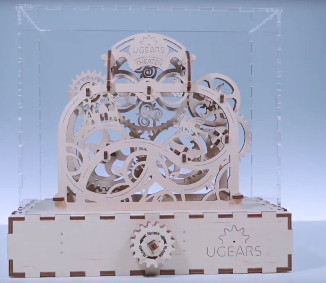 UGears Assembled Demonstration model Theater with Handle