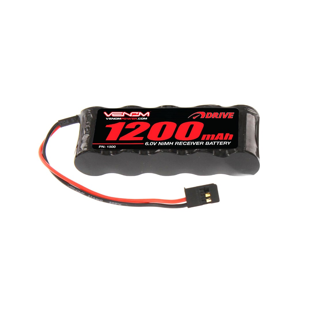 Venom 1200mAh 6V NiMH Flat Receiver Battery 85x29x15mm