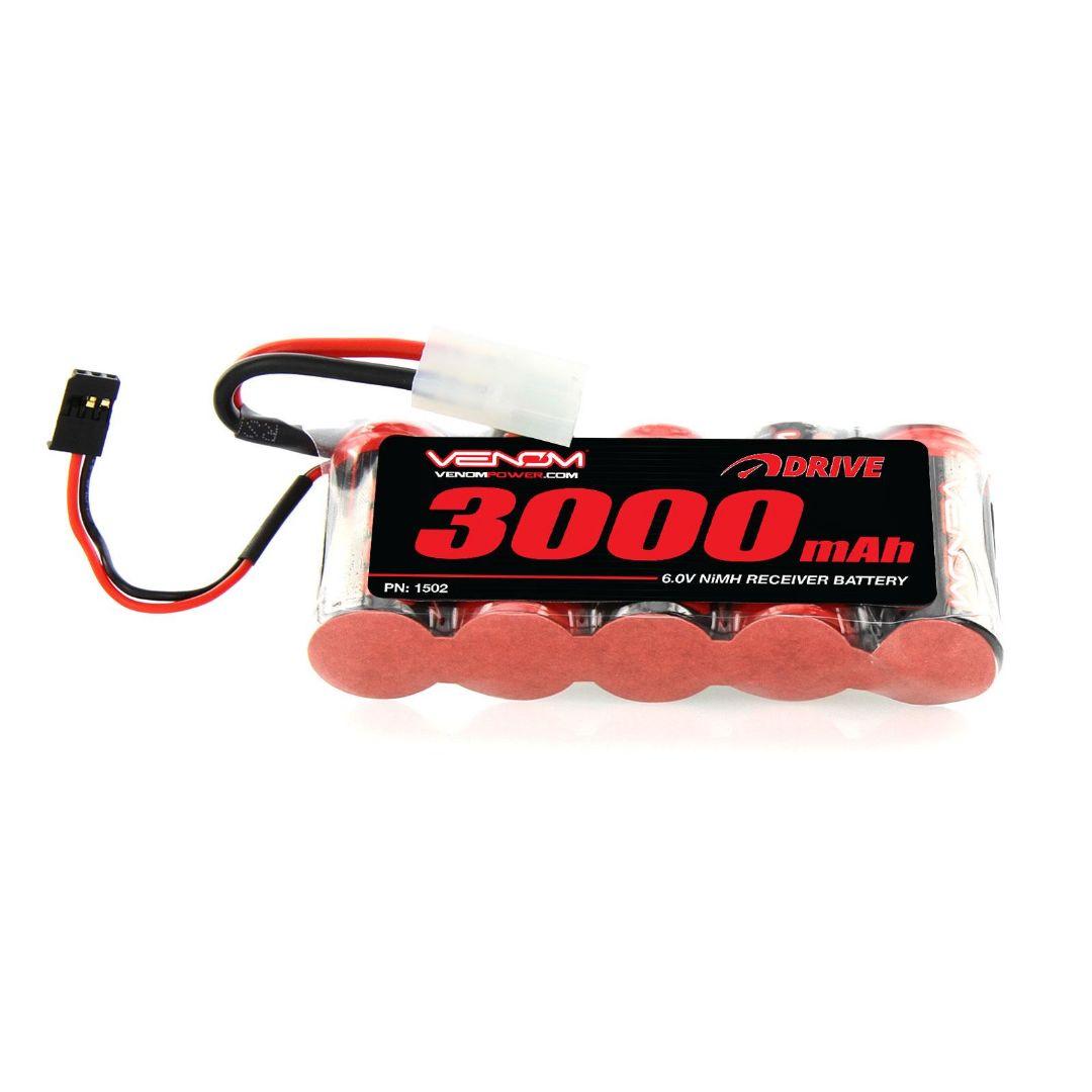 Venom Drive 3000mAh 6V 5 Cell NiMH Flat Large Scale RX 110x45x24 mm