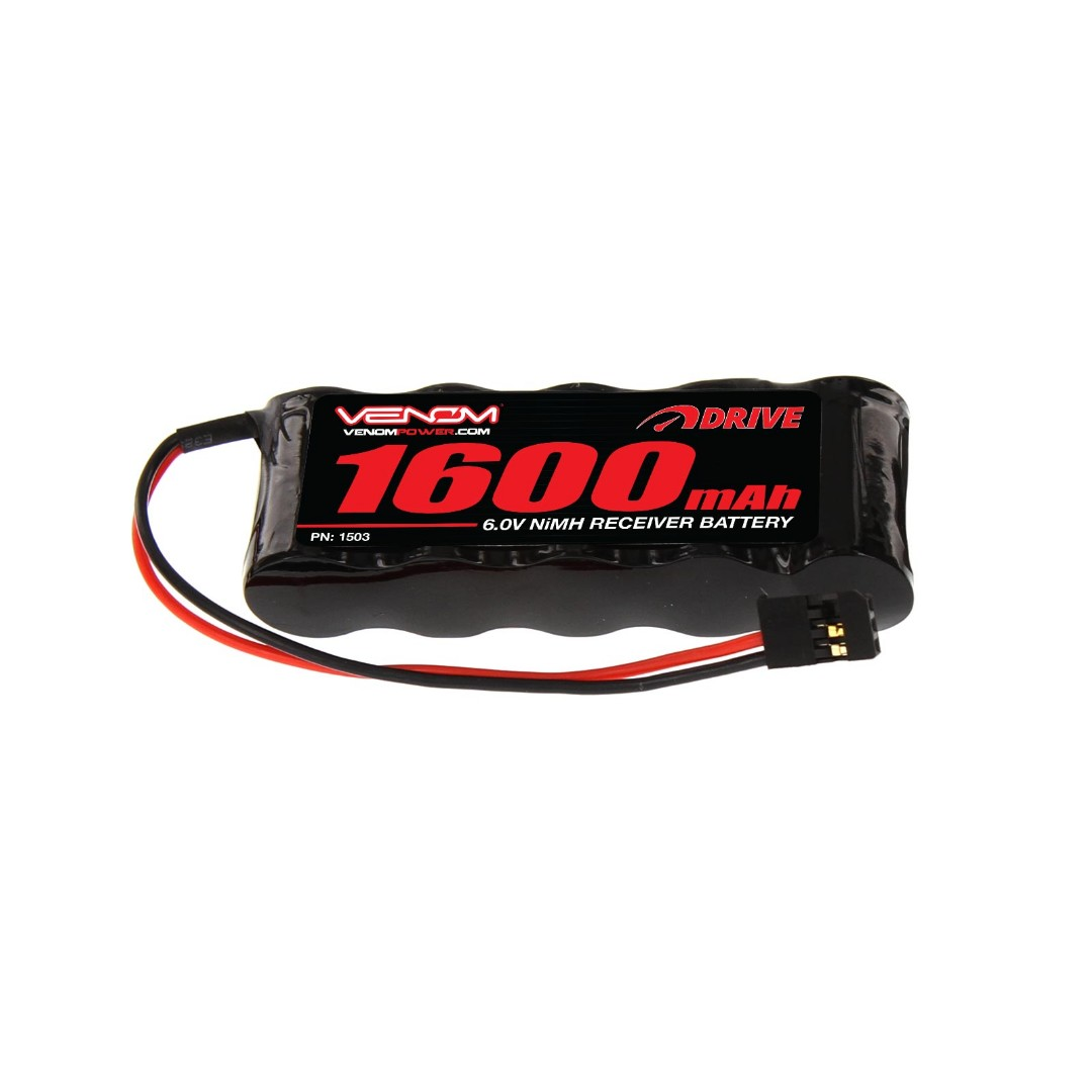 Venom 1600mah 6V NiMH Flat RX Battery 84.8x29x15mm