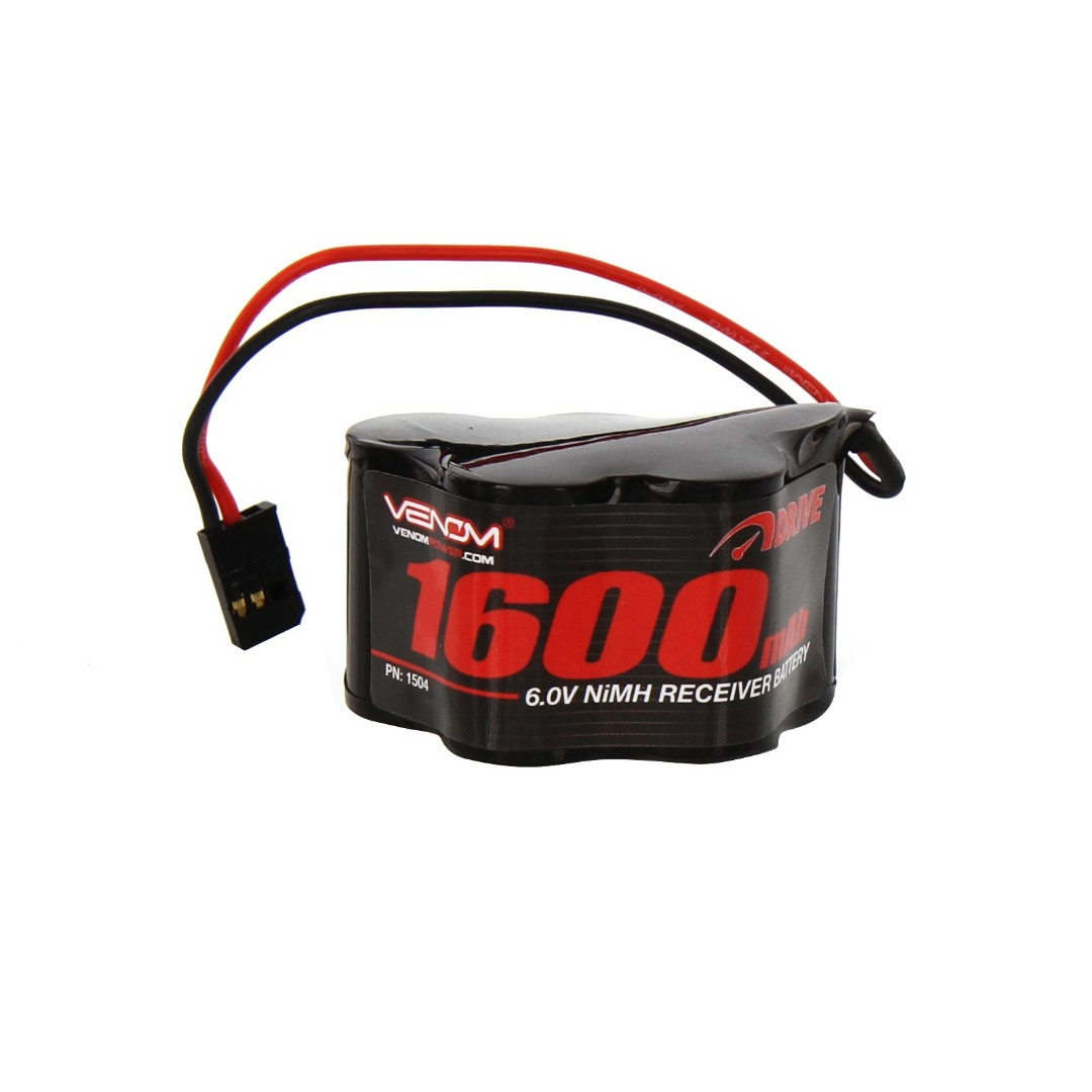 Venom 1600mAh 6V NiMH Hump Receiver Battery 50x29x31mm