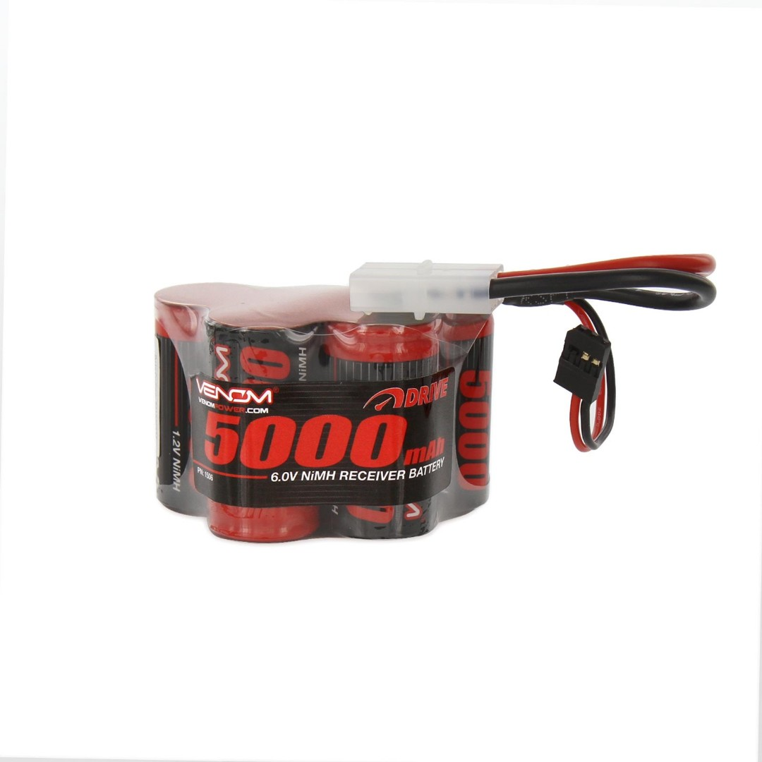 Venom 5000mAh 6V NiMH Hump Receiver Battery 67.8x40.6x45.7mm for Gas HPI Baja