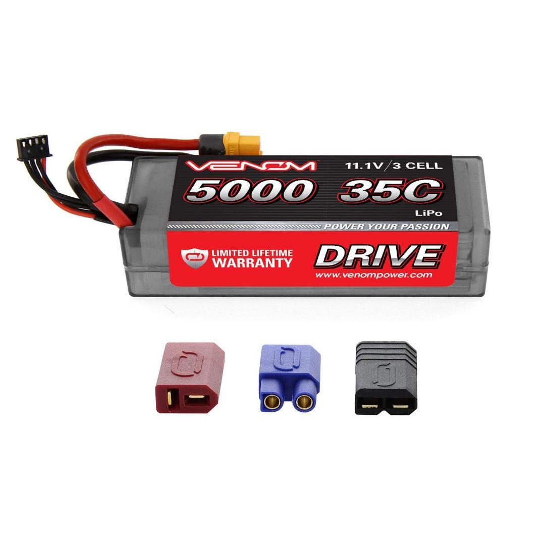 Venom Drive 5000mAh 3S 11.1v 35C LiPo UNI Plug Hard Case 138x46x35 mm