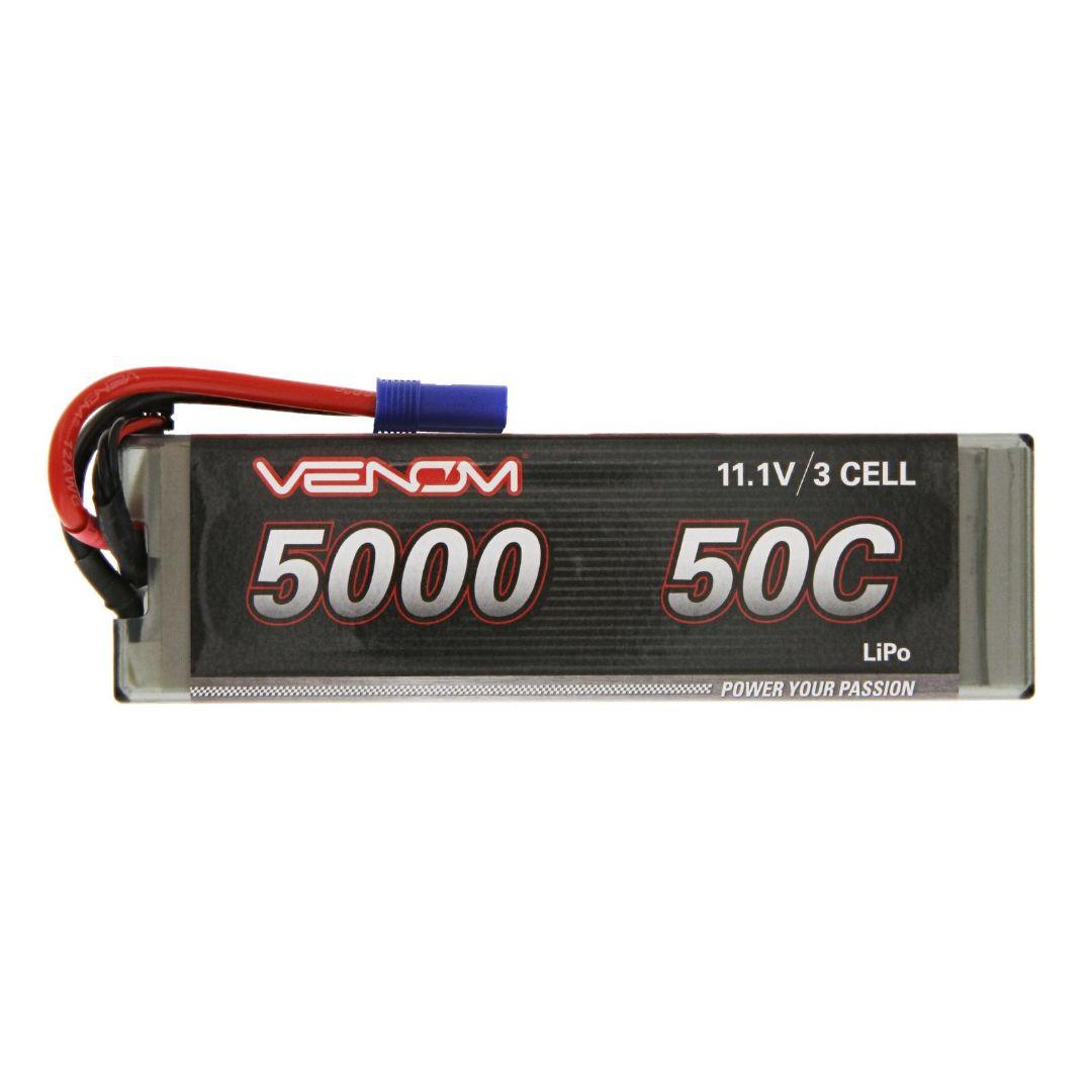 Venom Drive 5000mAh 3S 11.1V 50C LiPo EC5 Plug Hard Case Flat 163x48x25mm