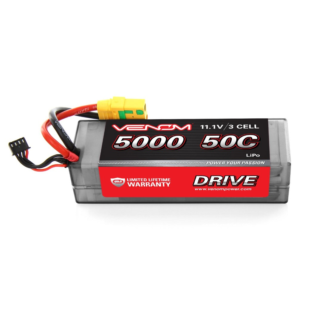 Venom 5000mAh 3S 11.1V 50C LiPo XT90-S Plug Hard Case 138x46.5x35mm